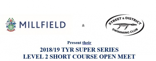 TYR Super Series L2 19th-21st October Millfield and L3 meet 1st-2nd Dec
